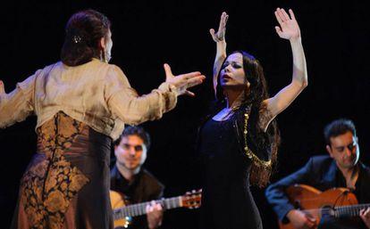 Olga Pericet, durante el espectáculo
