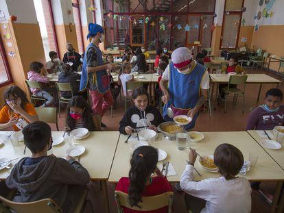 Comedor de una escuela pública de Barcelona.