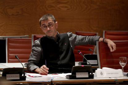 Juan Carlos Monedero, en una comparecencia en el Senado, en 2017.