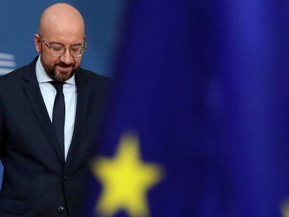 El presidente del Consejo Europeo, Charles Michel, este jueves en Bruselas.