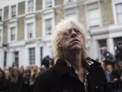 Bob Geldof, a la entrada de un estudio de grabación londinense el pasado 15 de noviembre.