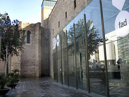 Fachada del Convent dels Àngels al lado del cual está previsto construir el nuevo edificio del Macba.