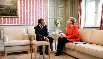 Emmanuel Macron y Angela Merkel, eel pasado junio en Meseberg (Alemania).