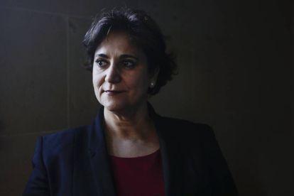 Rosa Berganza, candidata a rectora, el pasado miércoles en EL PAÍS.