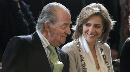La infanta Cristina y el Rey en un concierto del Orfeón Donostiarra en 2010.