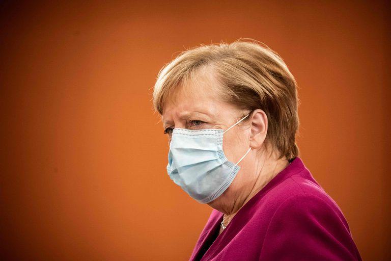 La canciller alemana, Angela Merkel, a su llegada a la reunión semanal del gabinete de ministros el miércoles en Berlín.