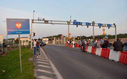 Frontera de Polonia con Ucrania.