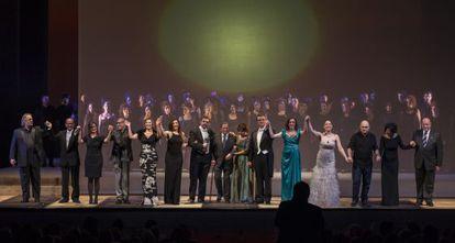 Un instante de la gala de los premios españoles de la ópera.
