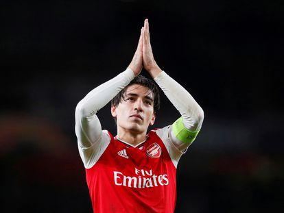 Bellerín durante un partido del Arsenal, la temporada pasada.