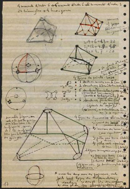 Uno de los escritos de Grothendiek.