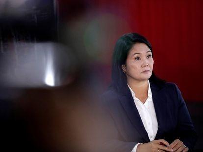La candidata Keiko Fujimori ha vuelto a insistir este miércoles en las denuncias de fraude en las elecciones que, por el momento, pierde frente a Pedro Castillo, en Lima, durante una rueda de prensa.