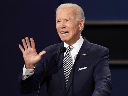 Joe Biden, candidato demócrata a la presidencia de EE UU, este martes.