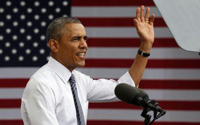 El presidente Obama durante un discurso este viernes en Minneapolis.