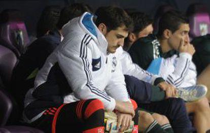 Casillas, en el banquillo de La Rosaleda