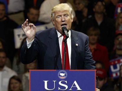 Trump, durante un intervención en Cincinnati.