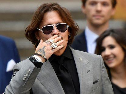 El actor Johnny Depp, en los tribunales de Londres el 28 de julio de 2020.