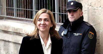 La infanta Cristina a su llegada a los juzgados el 8 de febrero de 2014.