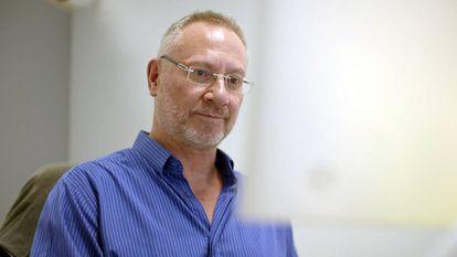 Mark Wilkinson en el Centro de Biotecnología y Genómica de Planta de la Universidad Politécnica de Madrid