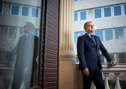 El delegado del Gobierno en Madrid, José Manuel Franco, este viernes durante la entrevista.