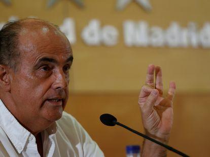 El viceconsejero de Salud Pública de Madrid, Antonio Zapatero, durante la rueda de prensa del viernes 6 de agosto de 2021.