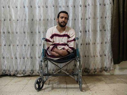 El yihadista ceutí Zuhair Ahmed Ahmed, durante la entrevista en una cárcel  del noreste de Siria, el pasado Lunes.