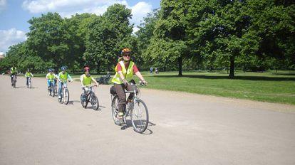 Ciclistas en Hyde Park, Londres, 2019