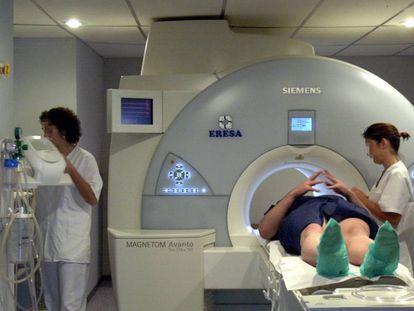 Una resonancia magnética en el hospital La Fe de Valencia.