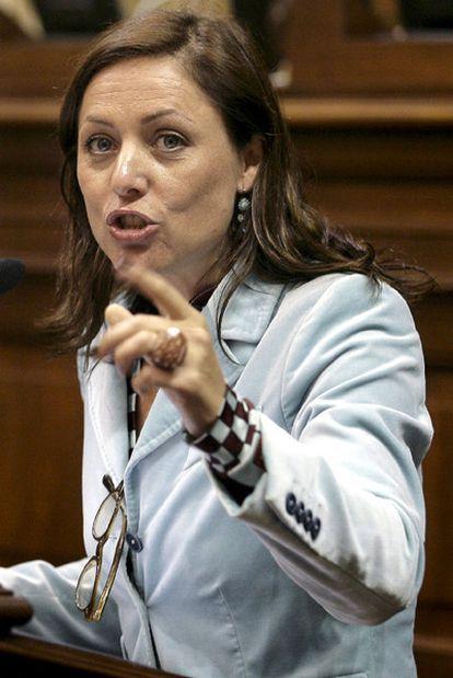 Cristina Tavío, presidenta del PP de Tenerife, diputada autonómica y concejal del Ayuntamiento de Santa Cruz entre 2003 y 2007.