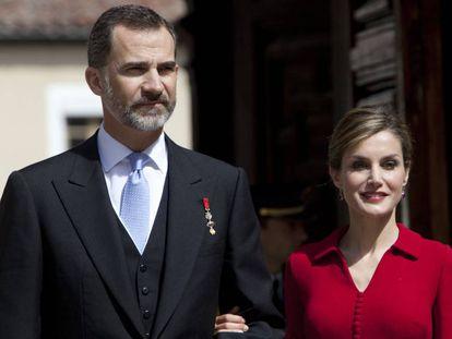 Felipe VI y la reina Letizia en la universidad de Alcalà de Henares.