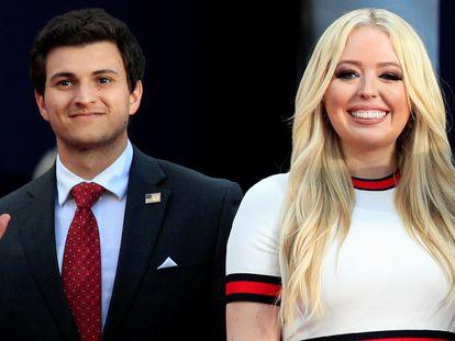Tiffany Trump y su novio, Michael Boulos, en Dakota del Sur el pasado julio.