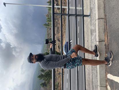 Andrés Amegeiras, uruguayo de 33 años, ha volado de Fuerteventura a La Palma para ver la erupción.