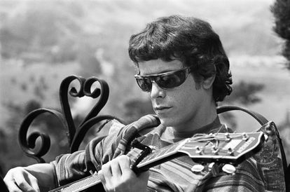 Lou Reed, in the sixties, when he was part of The Velvet Underground.