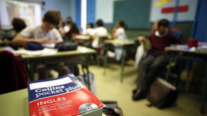 Clase en un colegio público de Madrid.