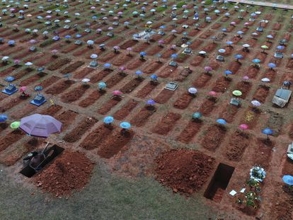 Cementerio de San Juan Bautista, en Iquitos, Perú, el pasado 20 de marzo.