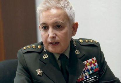 La hasta ahora coronel togada Begoña Aramendía, recién ascendida a general.