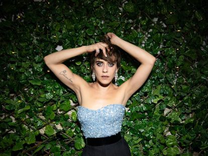 La actriz María León durante la fiesta de estreno de su última película, 'Los Japón' en el restaurante discoteca Ramsés de Madrid.