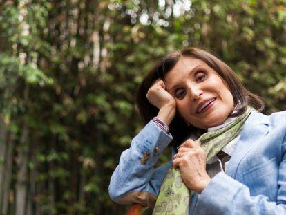 La escritora Ángeles Mastretta durante la entrevista.