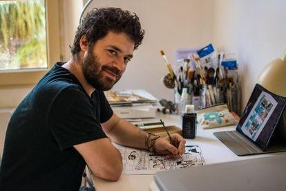 El dibujante de 'Saint-Exupéry', Cédric Fernandez.