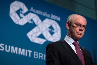 Herman Van Rompuy, el presidente de la Unión Europea, en la conferencia.
