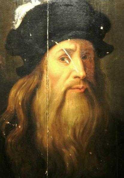La polémica sobre la autoria de este retrato, 'Tavola Lucana', aparece siempre que hay una exposición de Leonardo da Vinci.