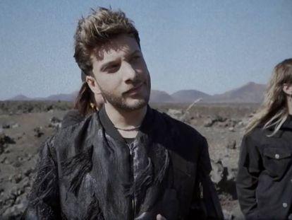 Blas Cantó en el adelanto de 'Universo', la canción con la que representará a España en Eurovisión 2020.
