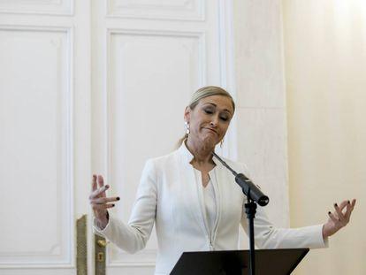 Cristina Cifuentes, el día de su dimisión.