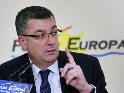 El presidente de las Cortes, Enric Morera, en el Fórum Europa.