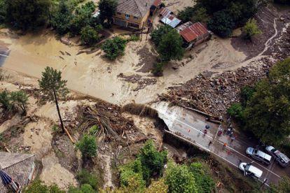 Vista aérea de las zonas afectadas por las lluvias en Kastamonu.