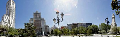 Panorámica de la plaza de España.