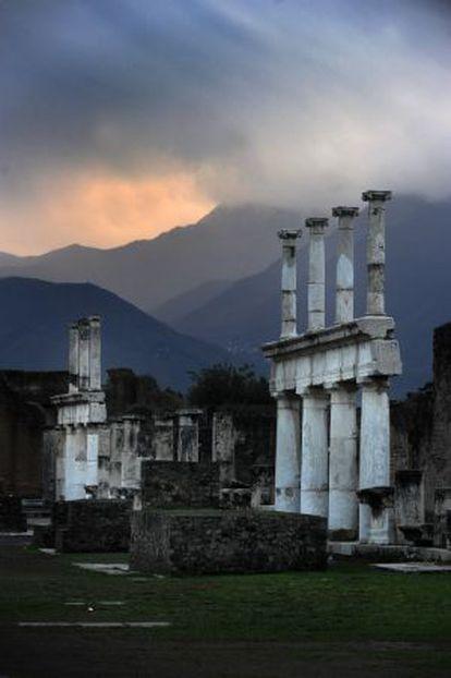 Las ruinas de Pompeya.