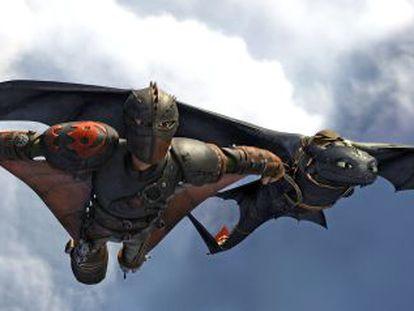 Fotograma de 'Cómo entrenar a tu dragón 2', que se estrena el viernes.
