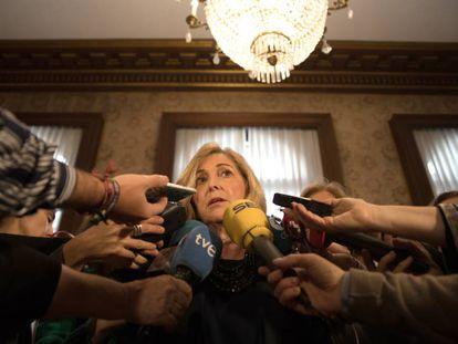 La delegada del Gobierno en la Comunidad de Madrid,  Maria Concepción Dancausa, en  la delegación del Gobierno.