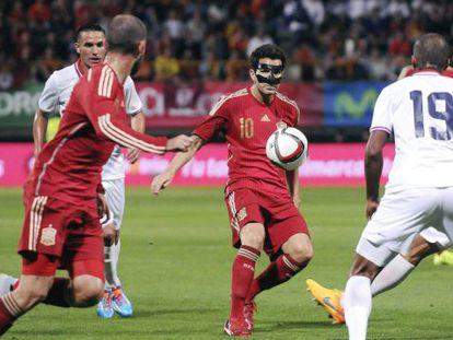 Fábregas, en el partido ante Costa Rica.