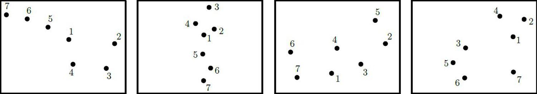 Cuatro posibles respuestas de catadores.